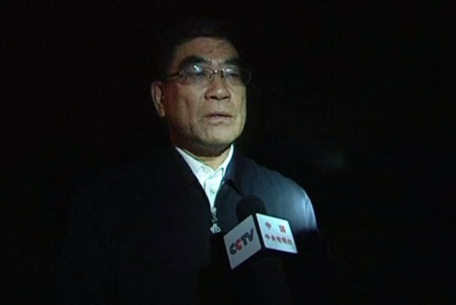 Sinopecin puheenjohtaja Fu Yucheng pahoittlee tapahtunutta tv-haastattelussa.