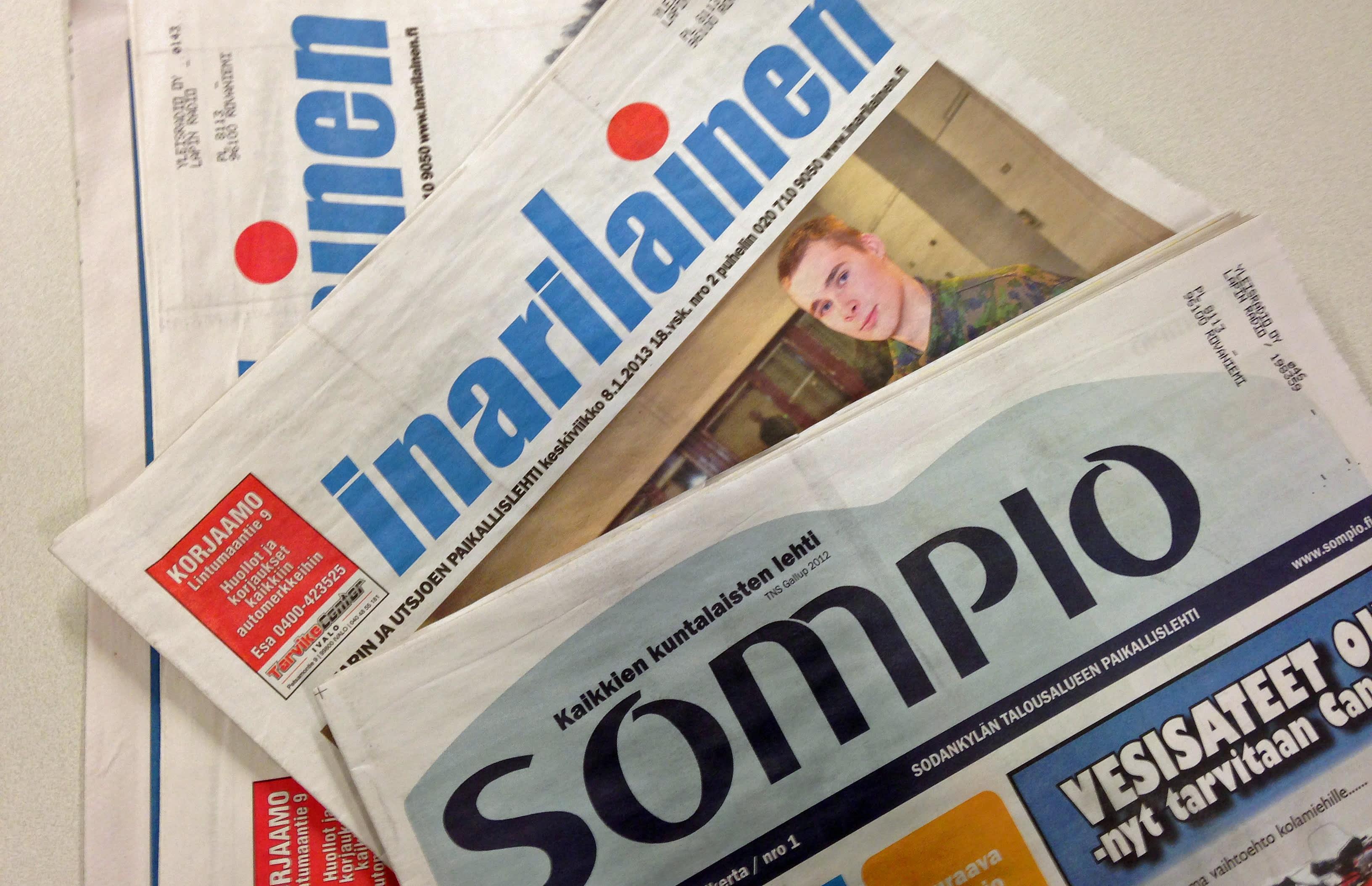 Inarilainen ja Sompio-lehti samalle yhtiölle