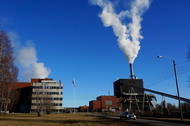 Powerflute Oy:n kartonkitehdas Kuopion Sorsasalossa