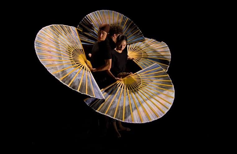 Swan of Tuonela -teoksen harjoituskuva, korealainen ryhmä Sungsoo Ahn Pick-up Group