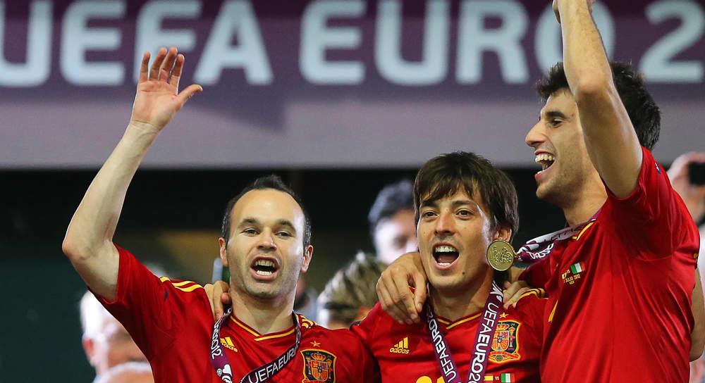 Espanjan pelaajia.