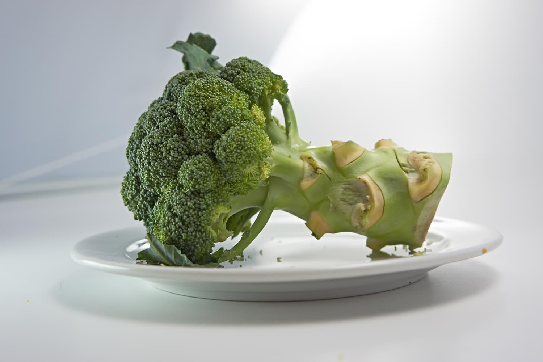 Broccoli on a plate.