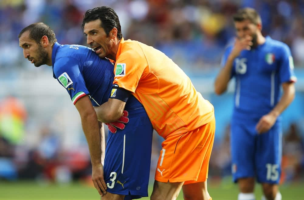 Italian Giorgio Chiellini ja Gianluigi Buffon.