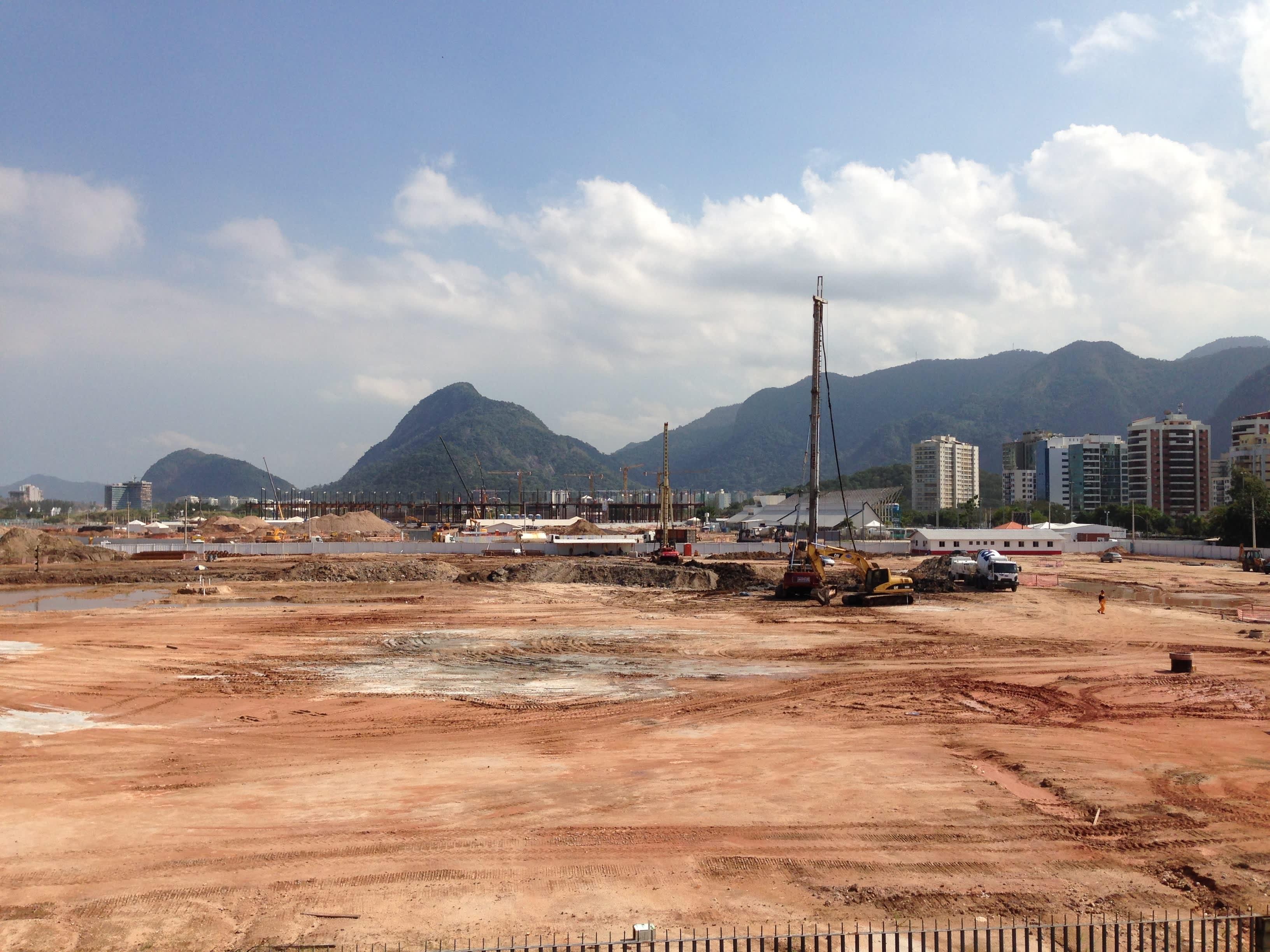 Barran rakennustyöt etenevät Rio de Janeirossa.