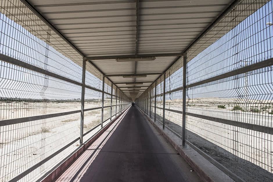 Valokuva Israelin ja Gazan yhdistävästä tunnelista Beit Hanounissa 10. elokuuta.