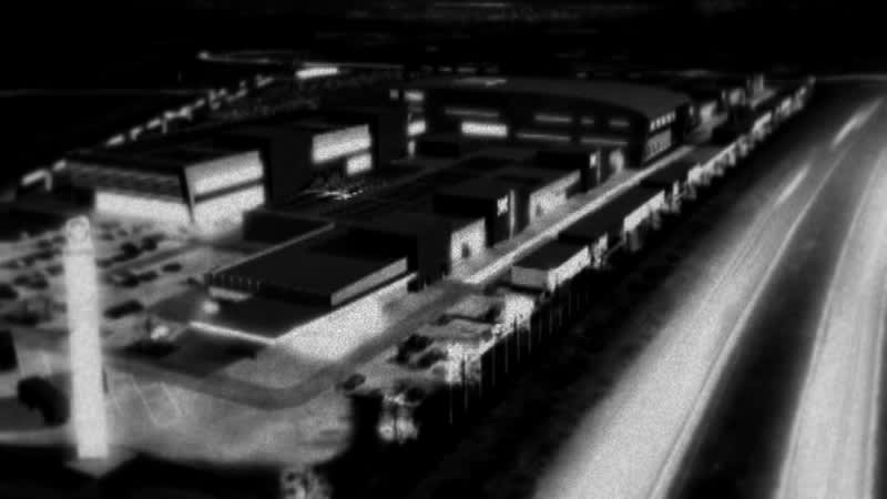Sunny Car Center havainnekuvassa yöaikaan