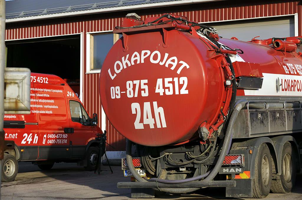 Lokapojat Oy:n toimitilat Tuusulan Pyöräkujalla 6. marraskuuta 2008.