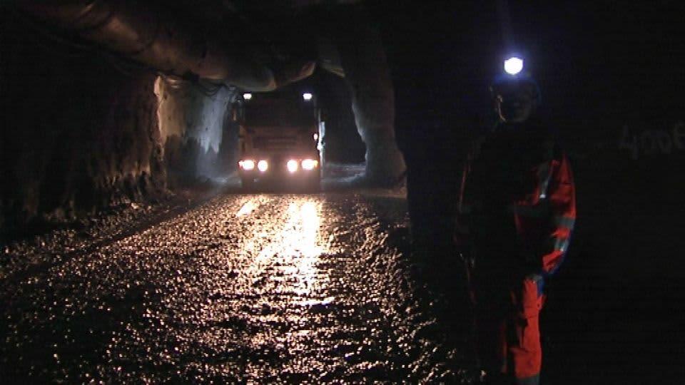 Kittilän kaivoksen kaivoskäytävä