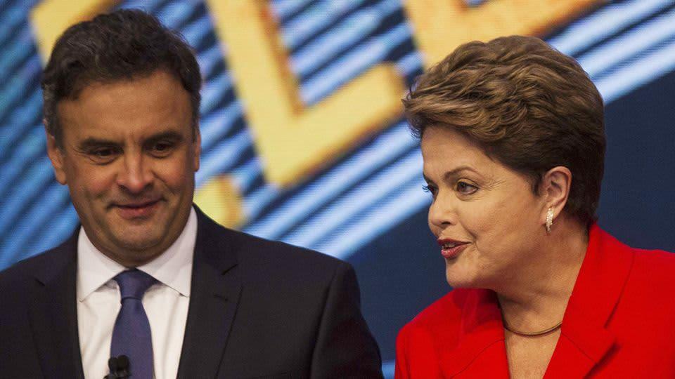 Aecio Neves ja Dilma Rousseff