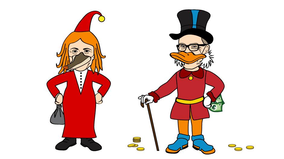 Vilijonkka Räsänen ja Roope Ankka Stubb