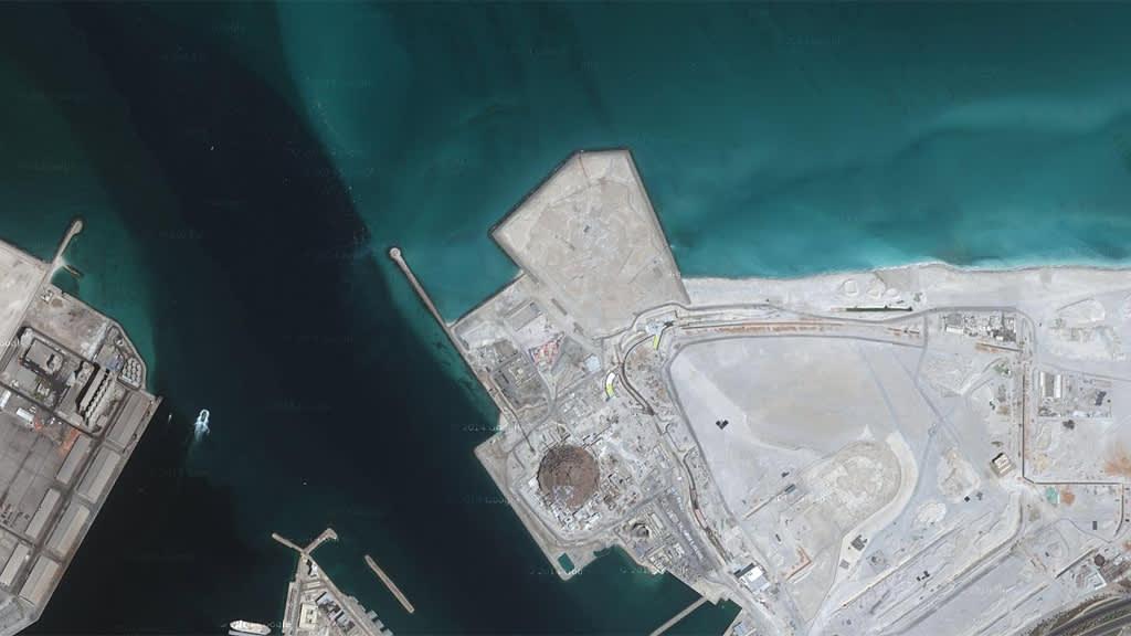 Google Maps -näkymä Abu Dhabista.