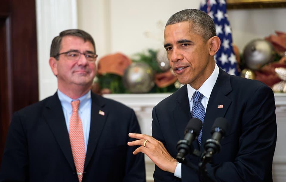 Yhdysvaltain presidentti Barack Obama nimitti Ashton Carterin uudeksi puolustusministeriksi
