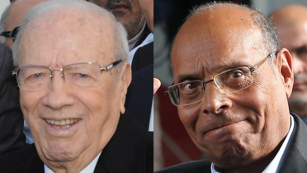 Beji Caid Essebsi  ja Moncef Marzouki