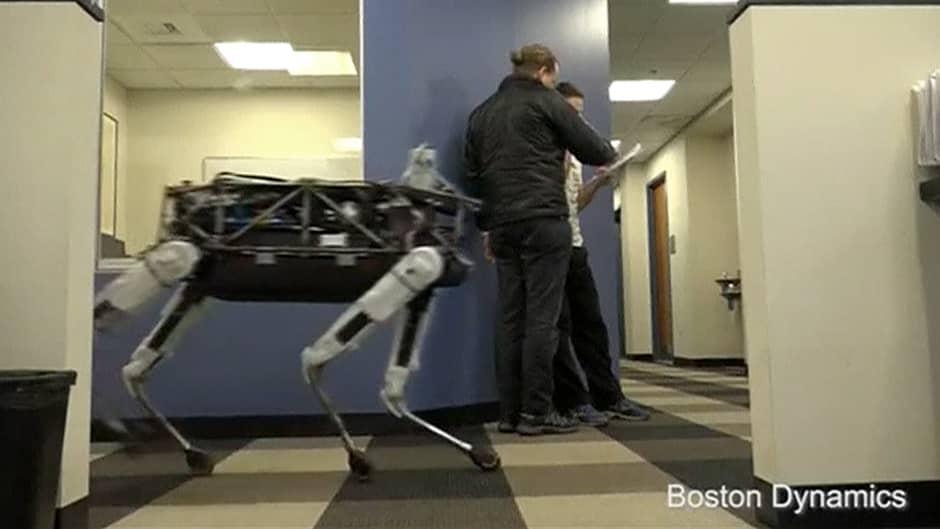 Spot-nimen saanut Bostin Dynamics -yhtiön kehittämä robottikoira.