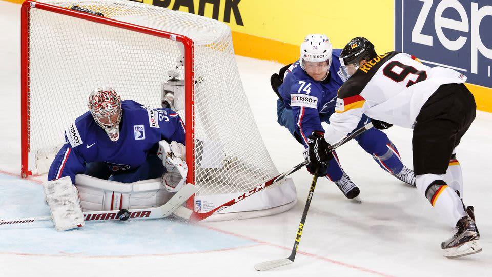 Ranska-Saksa -ottelu jääkiekon MM-kisoissa 2015