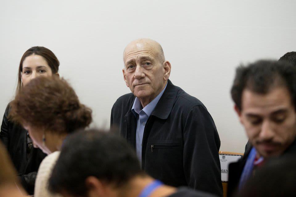 Israelin entinen pääministeri Ehud Olmert maaliskuussa 2015.