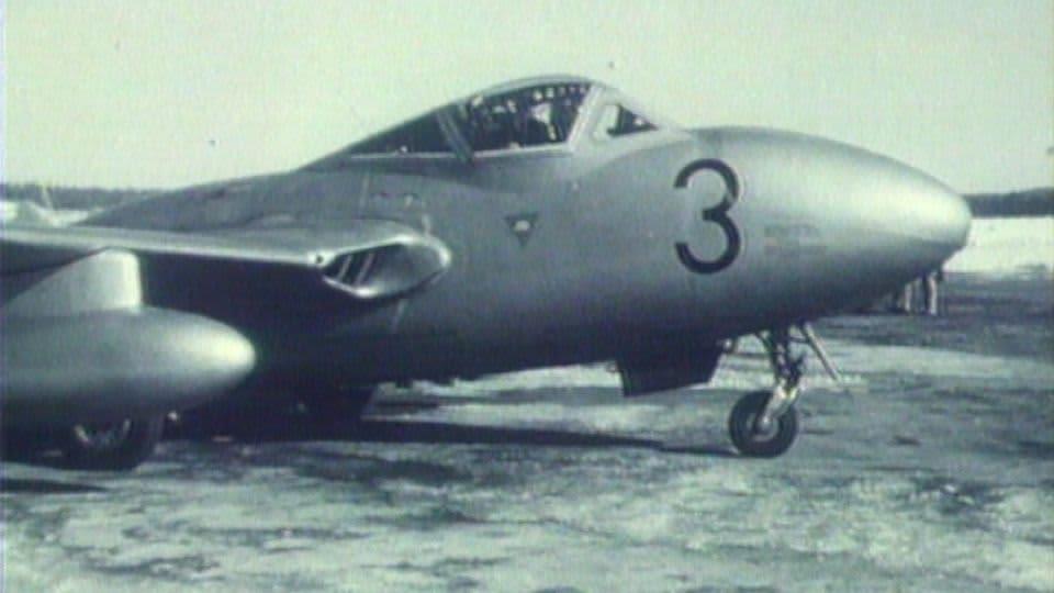 Vampire oli Suomen ensimmäinen suihkuhävittäjä.