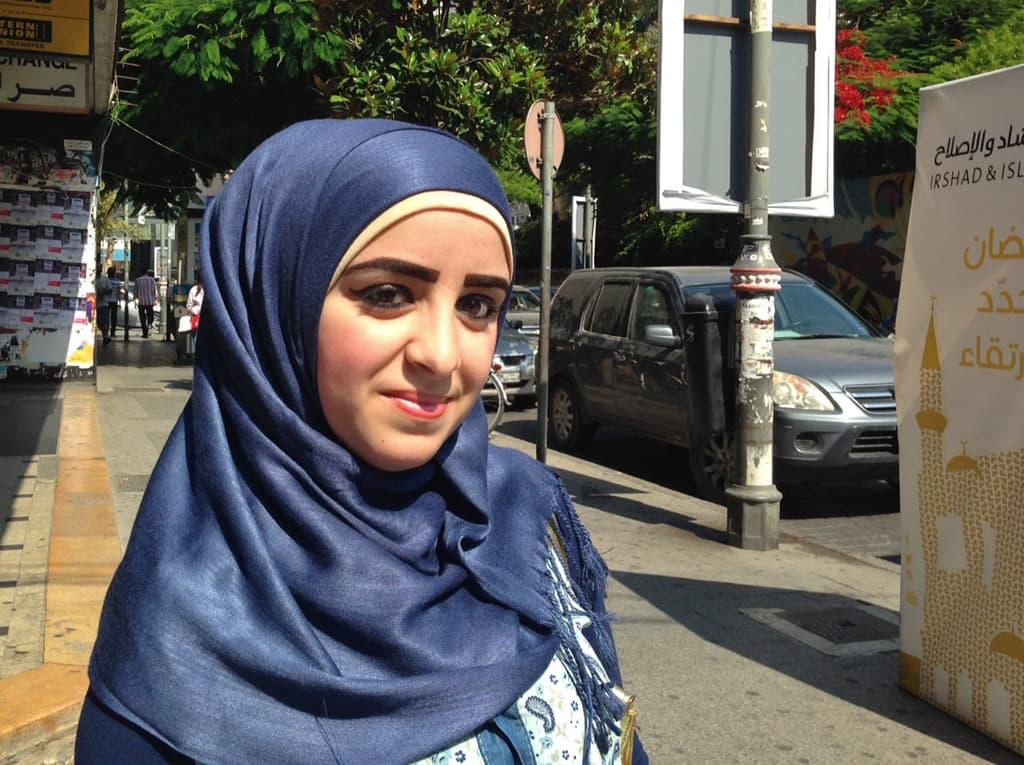 Libanonilainen Zainab al-Ghazi.