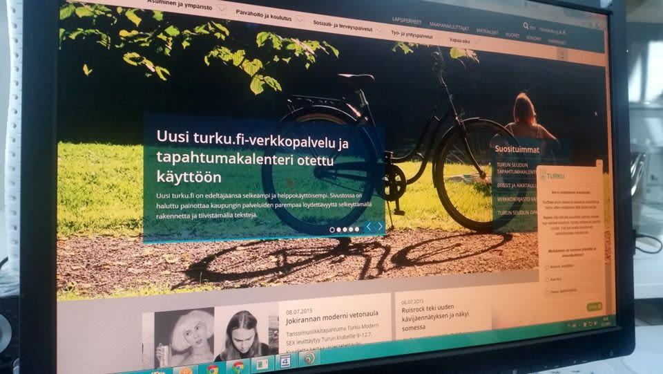 Turun kaupungin etusivu netissä 19.7.2015.