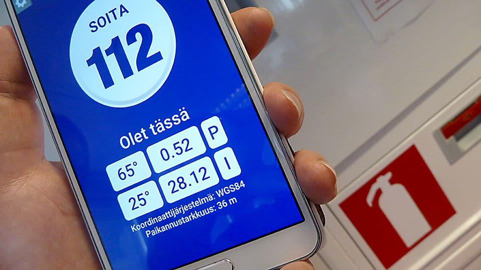 112 Suomi -hätäpuhelinsovellus