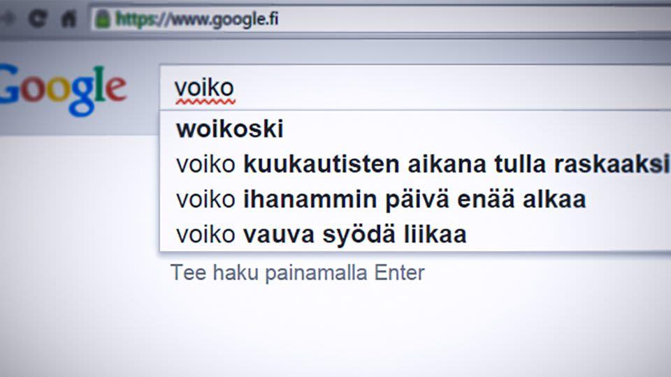 Googlen hakuehdotuksia