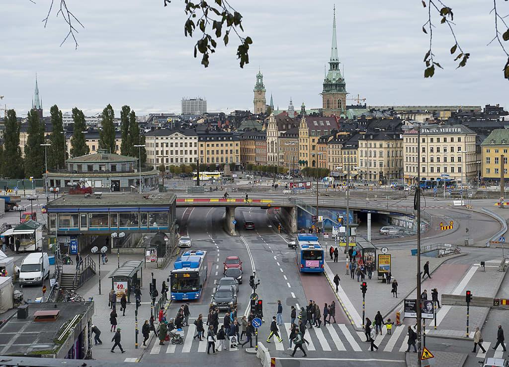 Tukholman vanhaa kaupunkia.