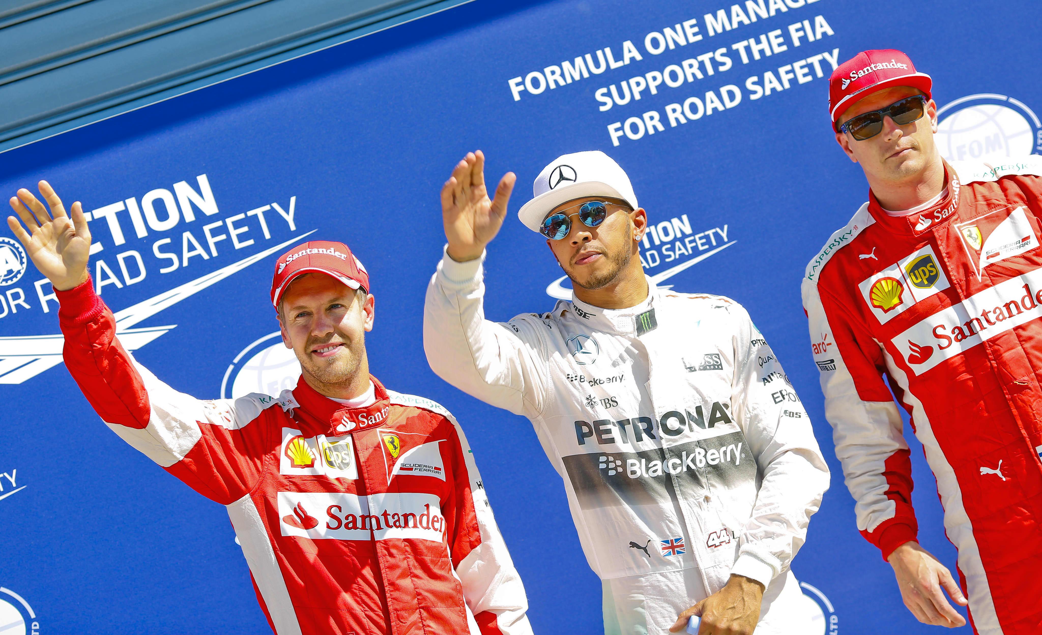 Vettel, Hamilton, Räikkönen