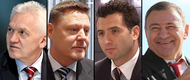 Gennadi Timtšenko, Kai Paananen, Roman Rotenberg ja Arkadi Rotenberg.
