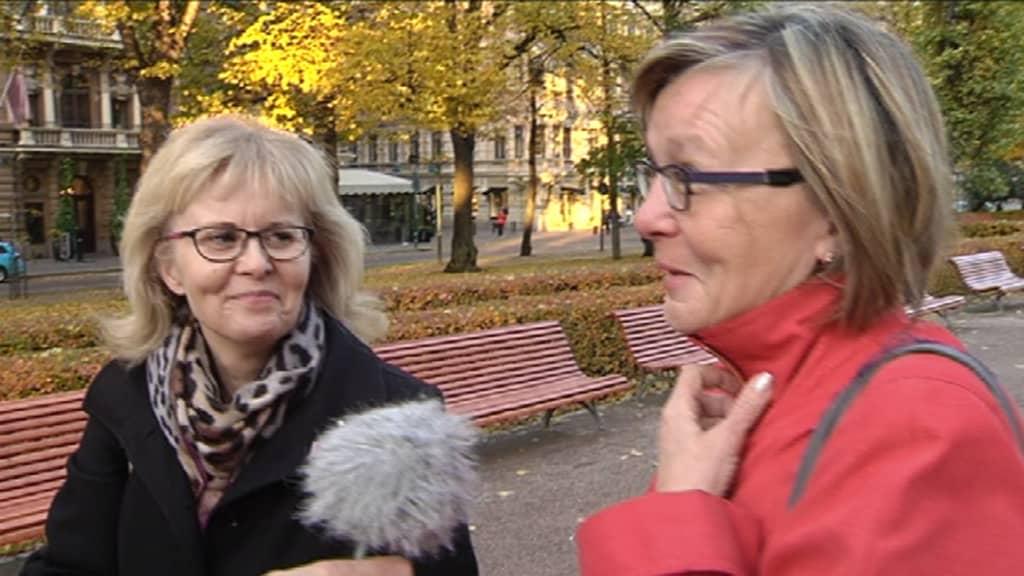 Marjukka Havumäki haastattelee.
