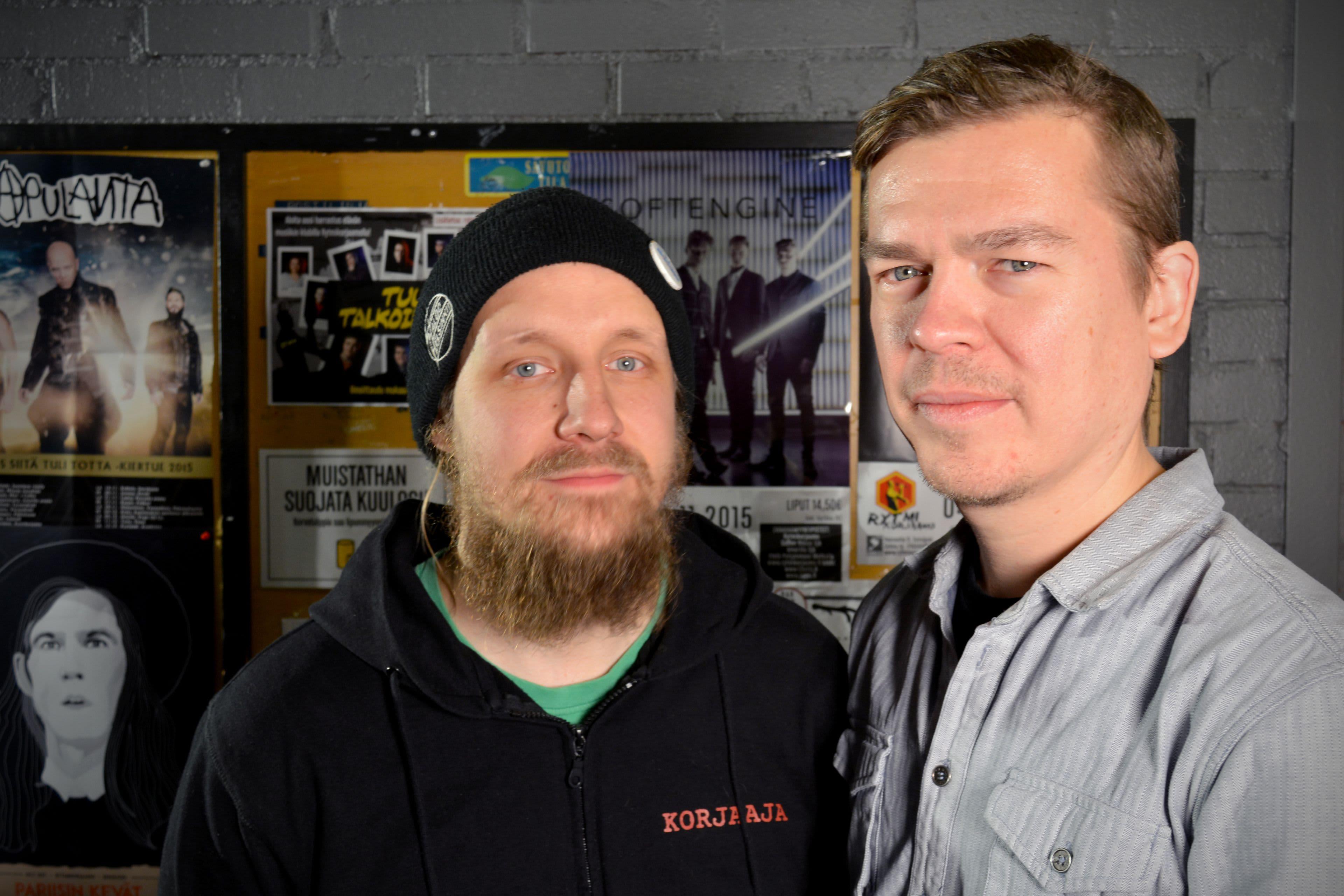 Selmun talkootyöläisistä vastaava Petteri Lehtola ja toiminanjohtaja Marko Kivelä.