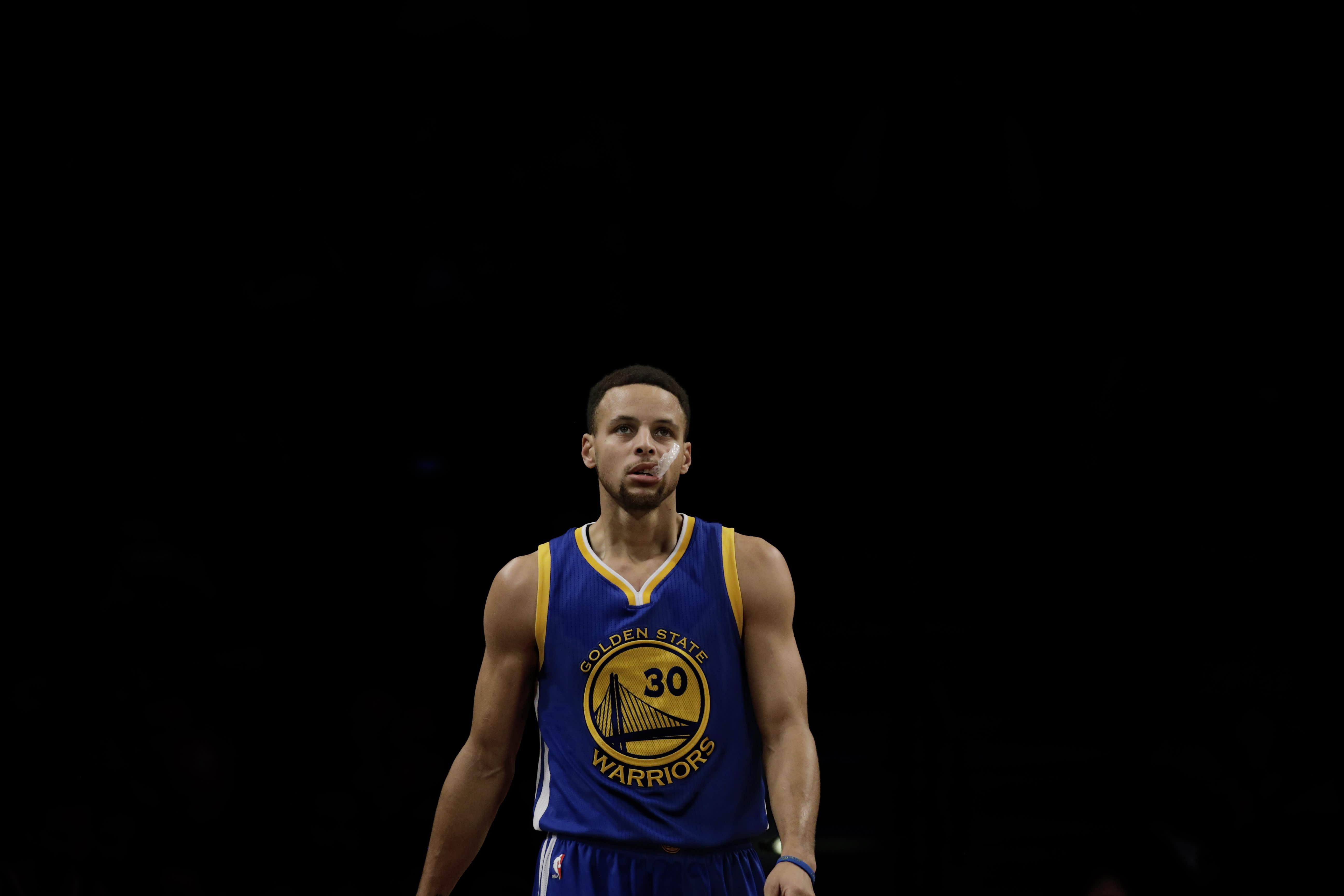 Golden State Warriorsin pelintekijä Stephen Curry.