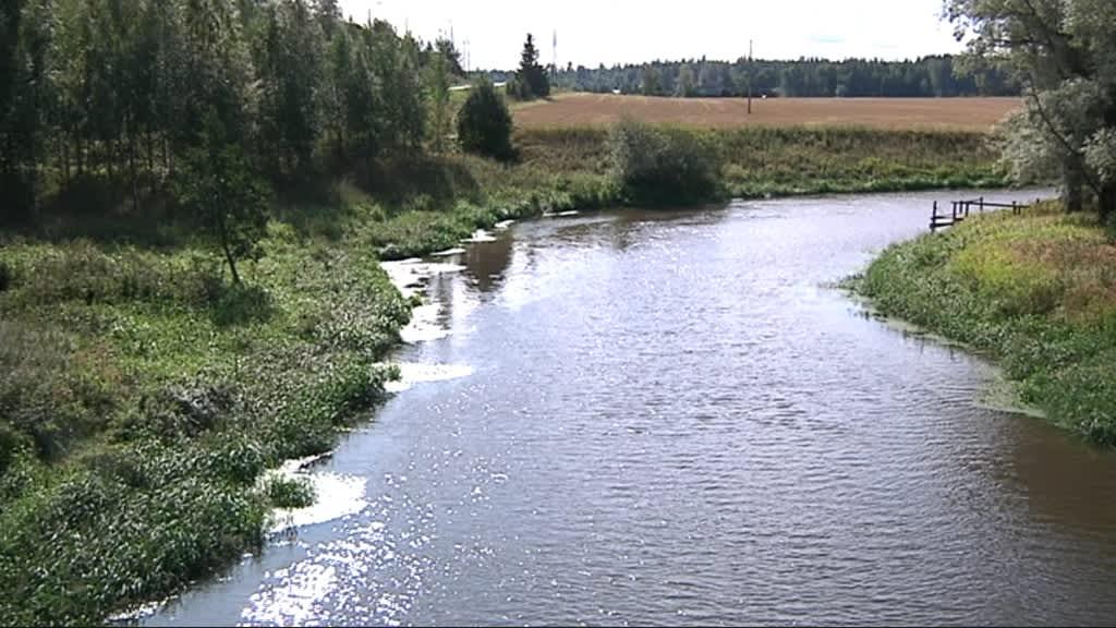 Loimijoki virtaa peltojen keskellä