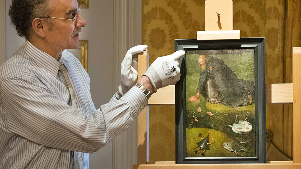Hieronymus Boschin maalaus 'The Temptation of Saint Anthony'.