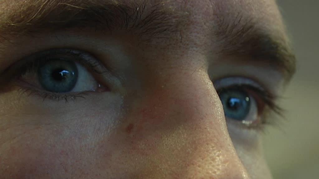 Silmät kasvot lähikuva silmäripset kulmakarvat