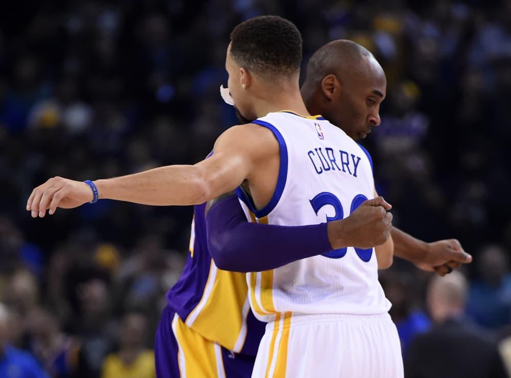 Los Angeles Lakersin Kobe Bryant ja Golden State Warriorsin Stephen Curry.