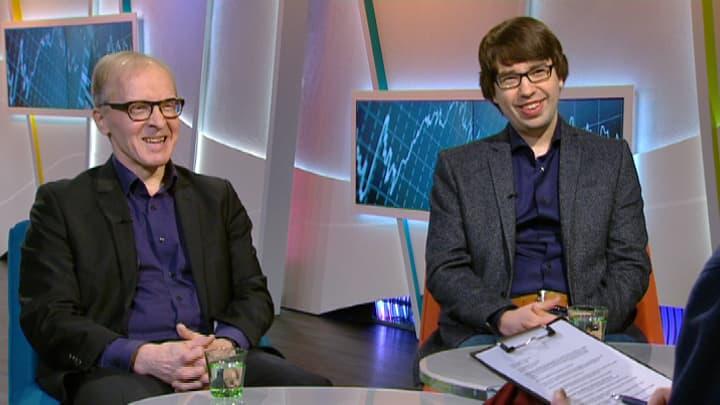 Professori Sakari Heikkinen ja tutkija Lauri Holappa