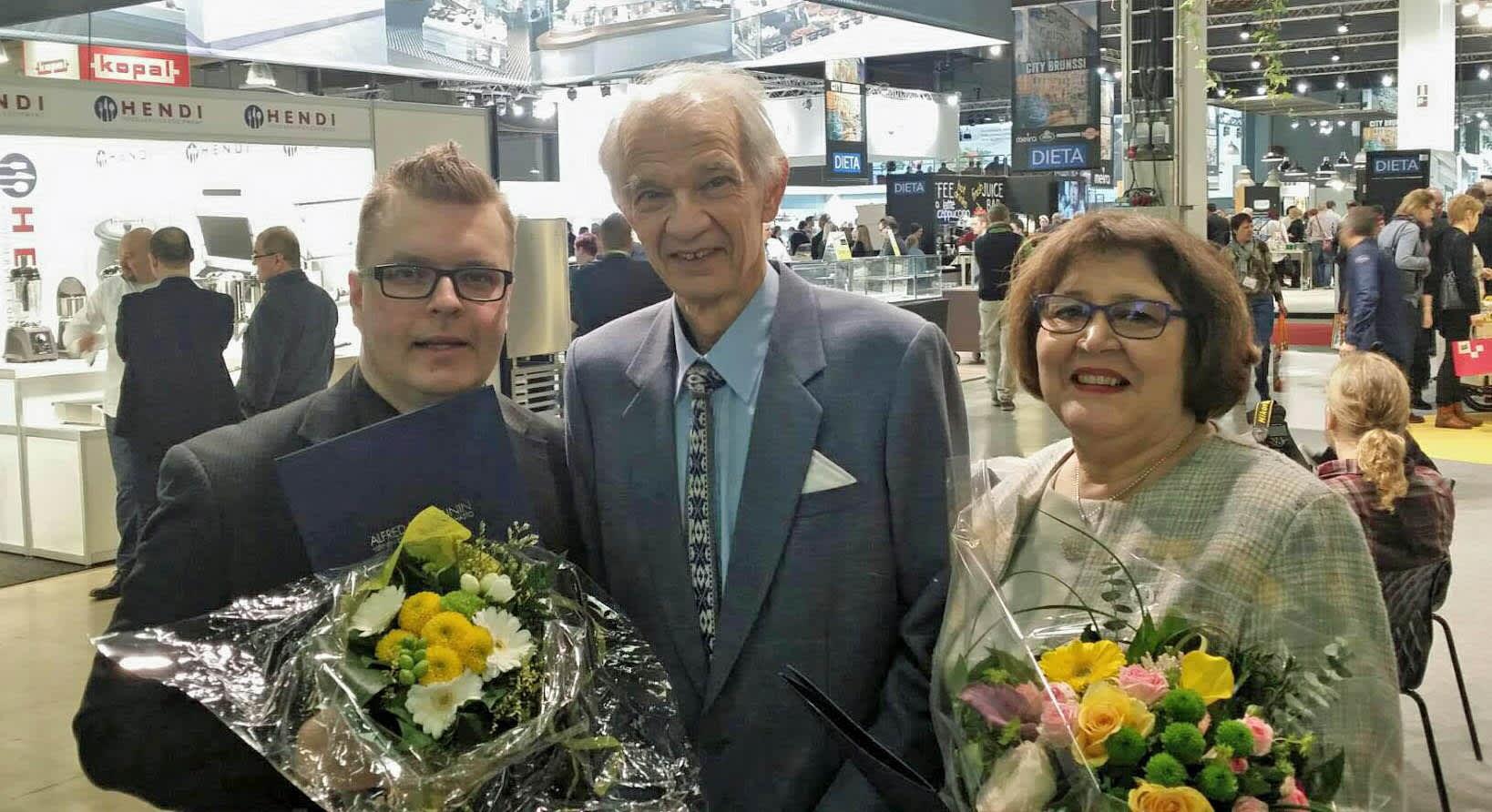 Juha Mäntykenttä, Jaakko Kolmonen ja Eeva-Maija Laurila Gastro-messut 2016