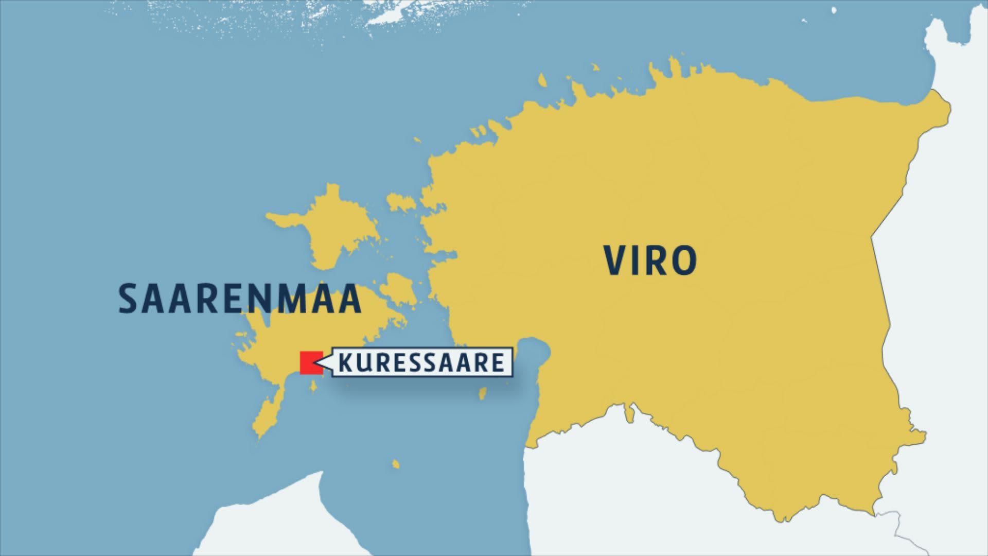 Kartta Saarenmaasta.