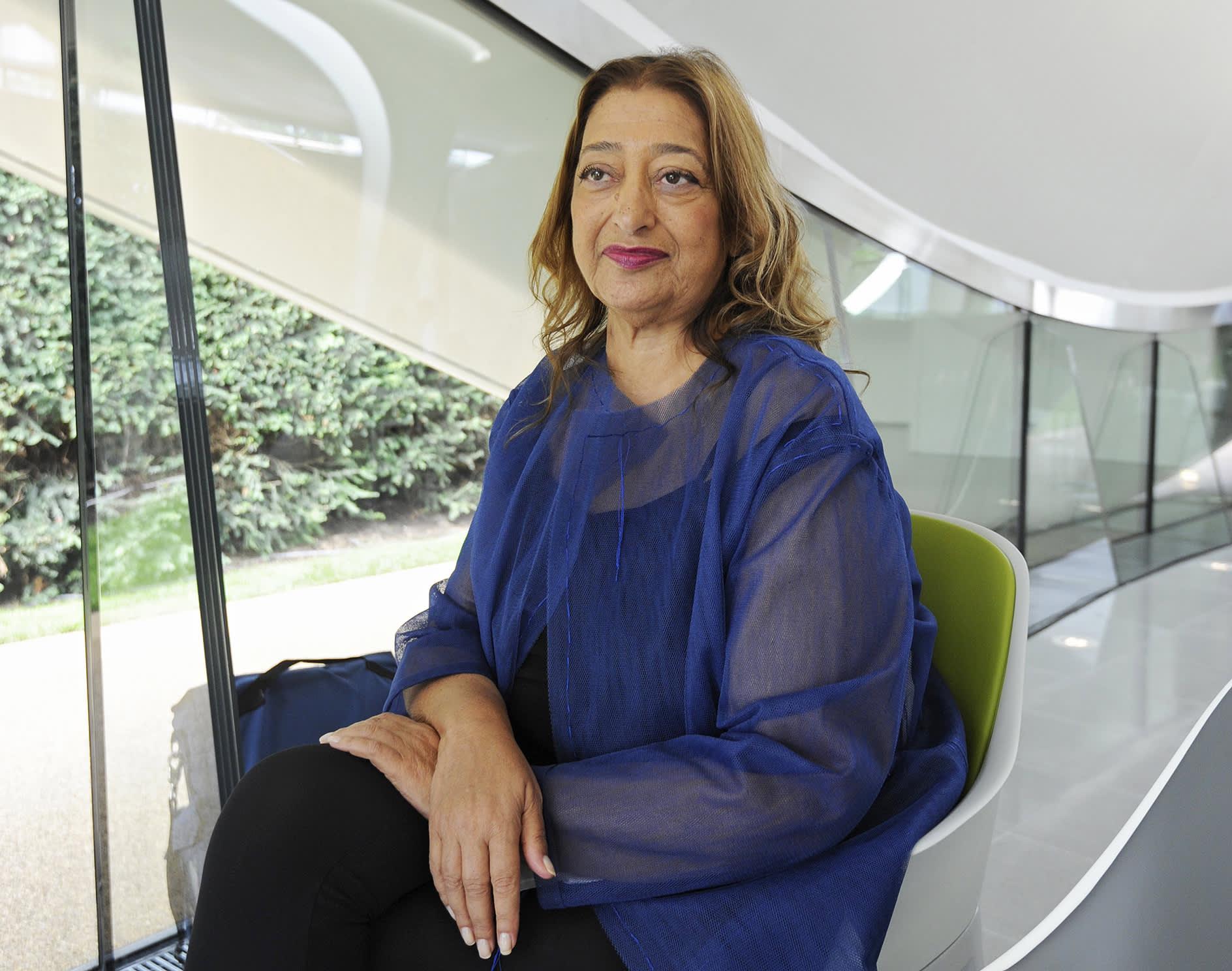 Edesmennyt arkkitehti Zaha Hadid.