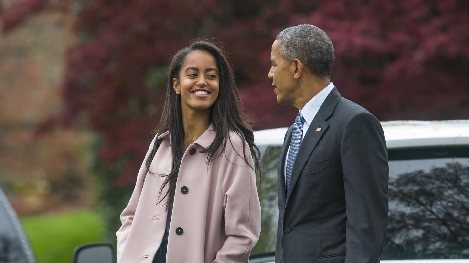 Malia ja Barack Obama.