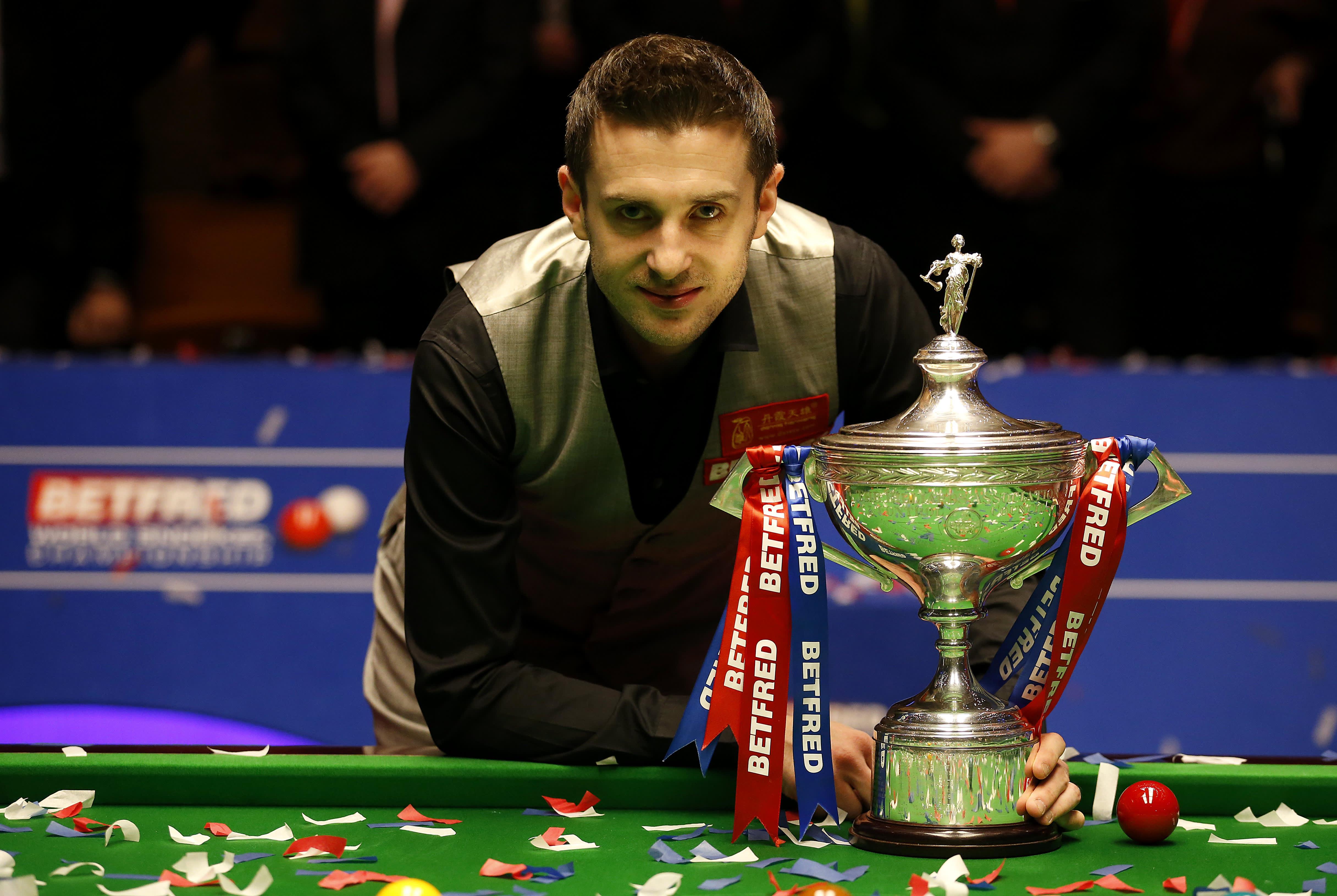 Mark Selby, snookerin maailmanmestari 2016.