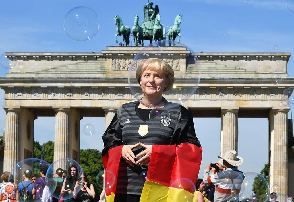 Angela Merkelin vahanukke Berliinissä.