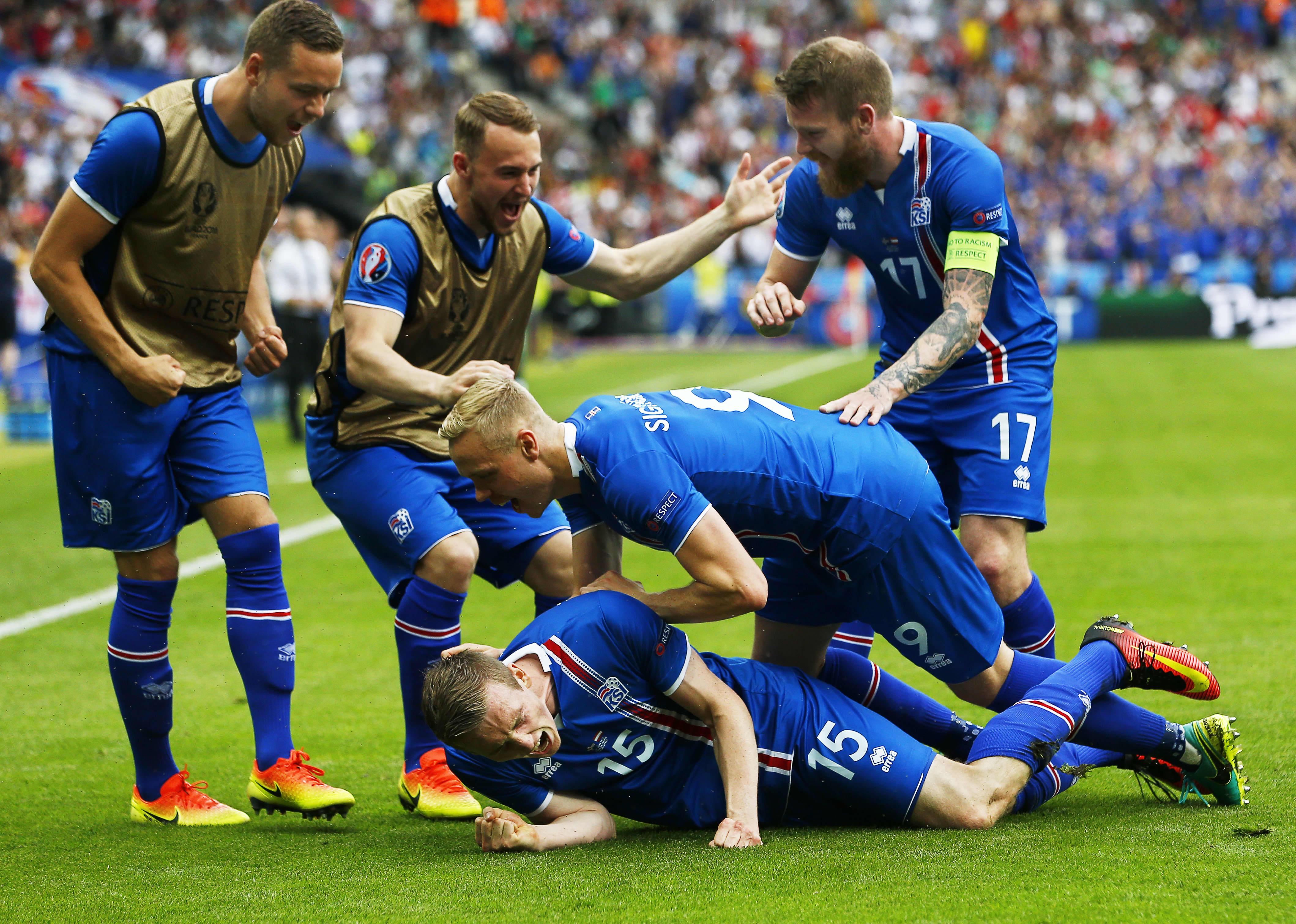 Islanti juhlii 1-0--maalia Itävbaltaa vastaan