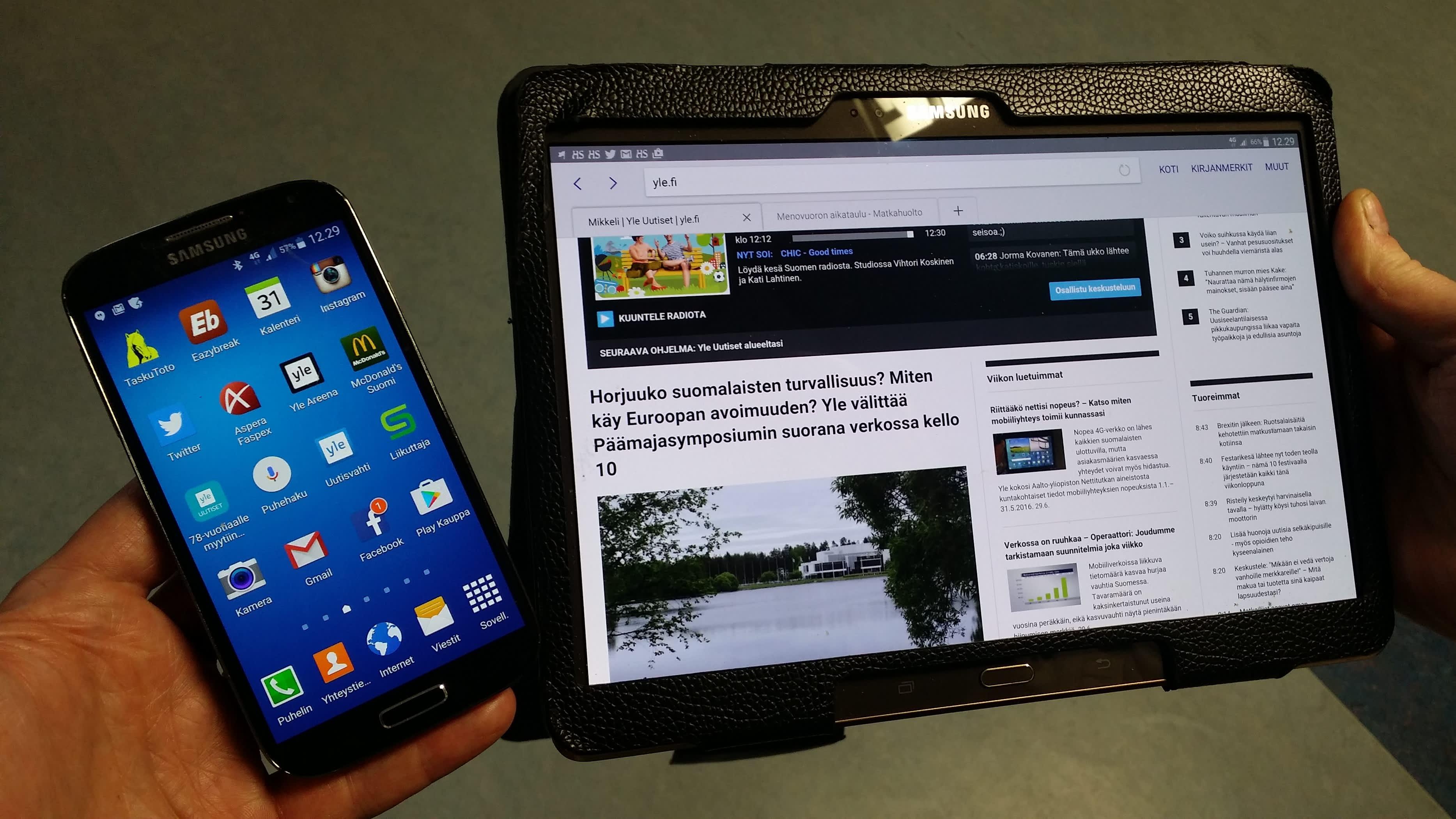 Älypuhelinten ja tablettien käyttö on yleistynyt huimaa vauhtia Suomessa.