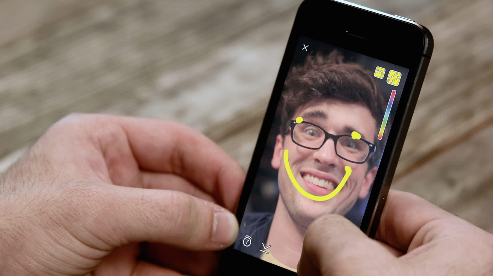 Nuorten suosiossa oleva Snapchat -sovellus