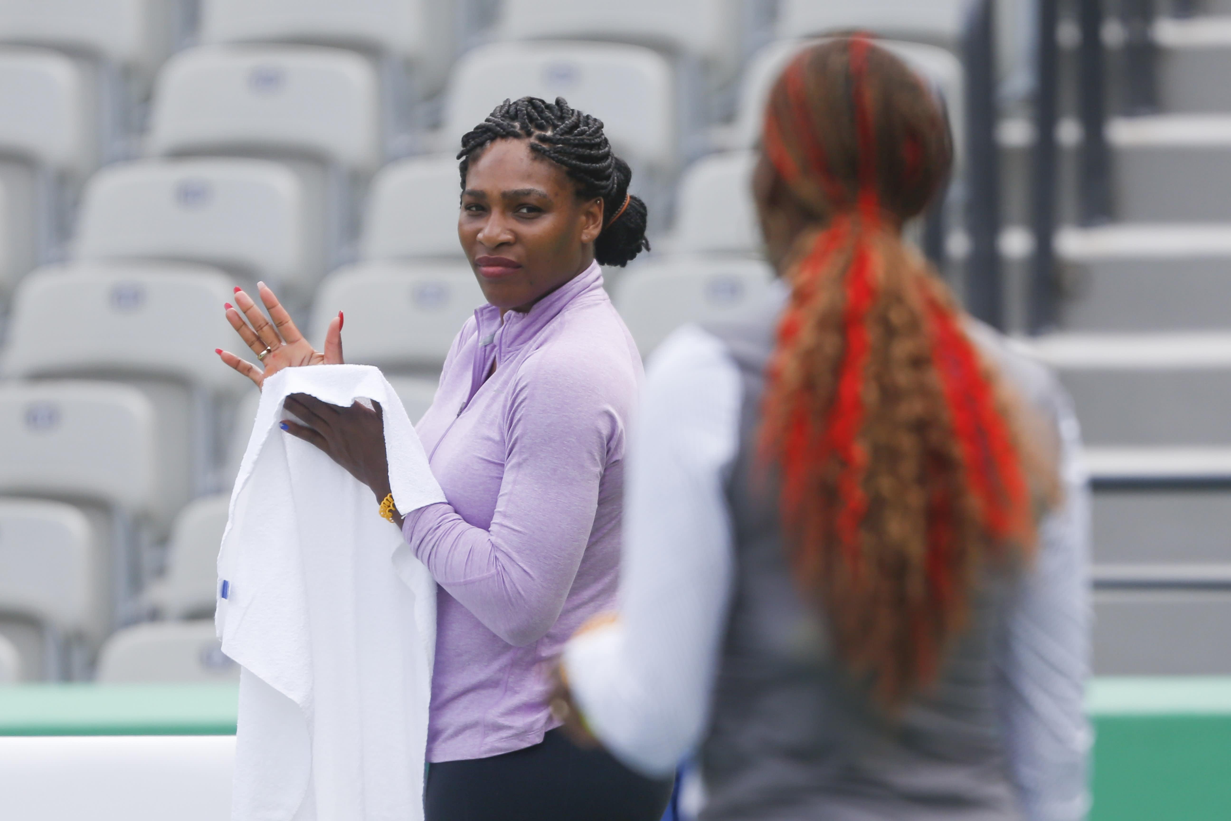 Serena ja Venus Williams Riossa.
