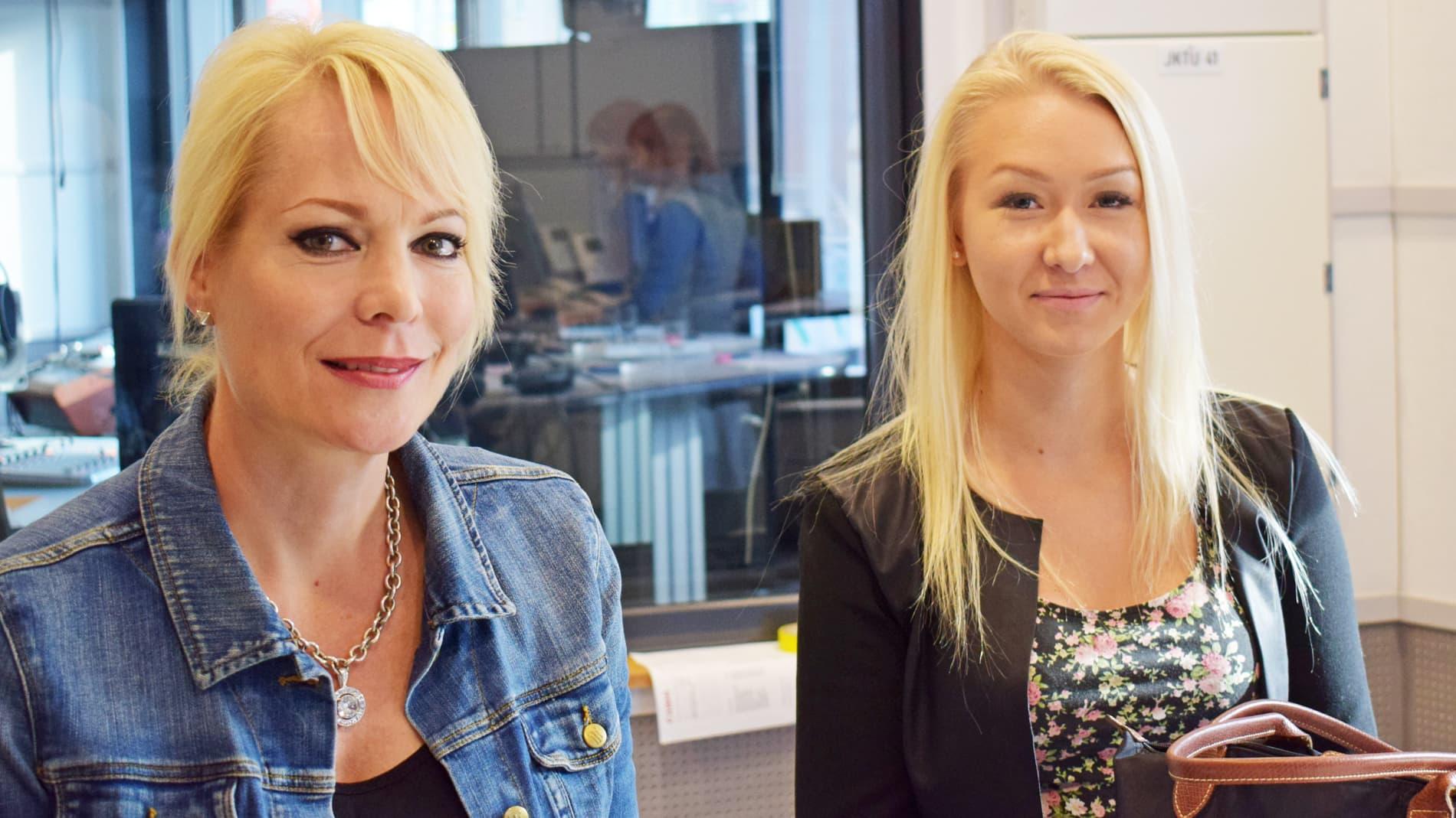 Susanna Ruotsalainen ja Ada Vesa.