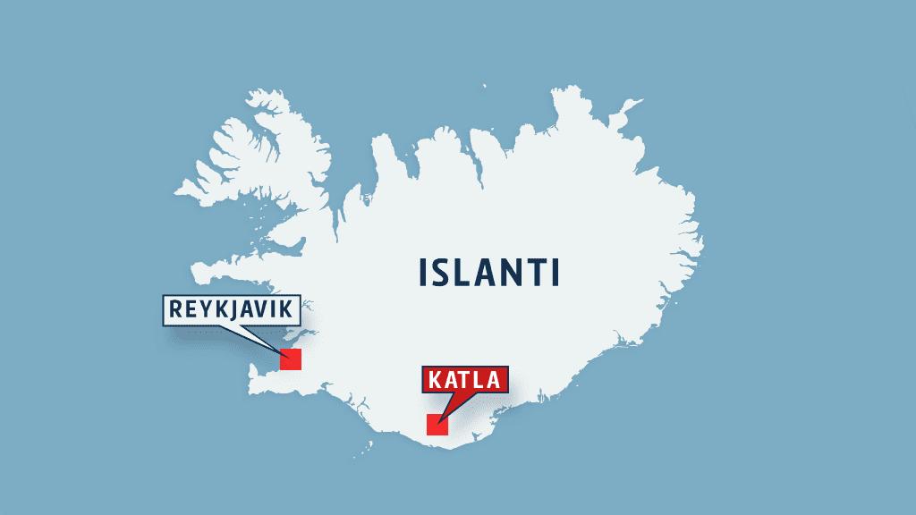 Islannin kartta.