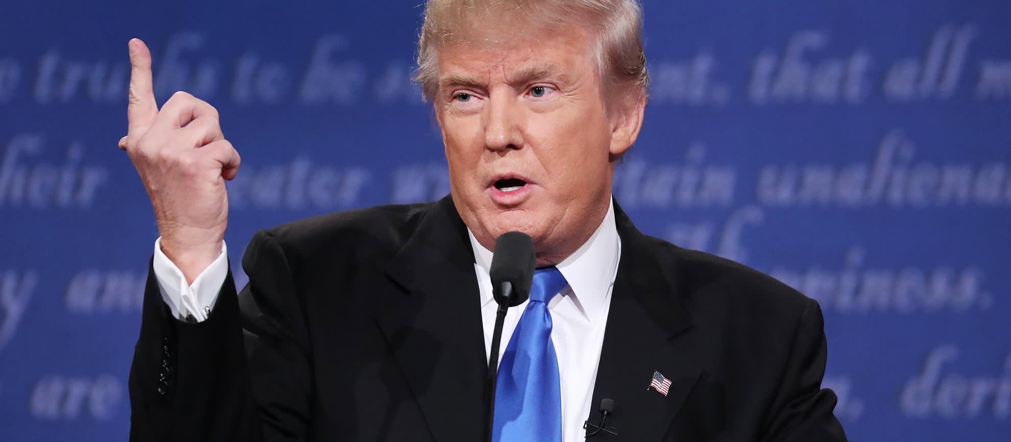 Donald Trump vaaliväittelyssä 26. syyskuuta.