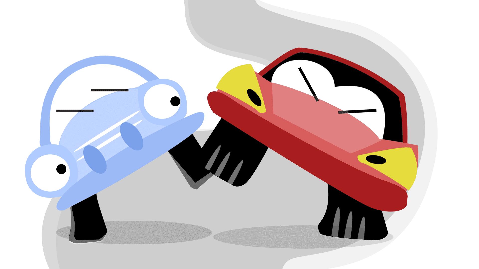 Erilaiset ajotyylit kuvitus